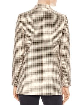 Sandro - Zack Check-Pattern Cotton Blazer