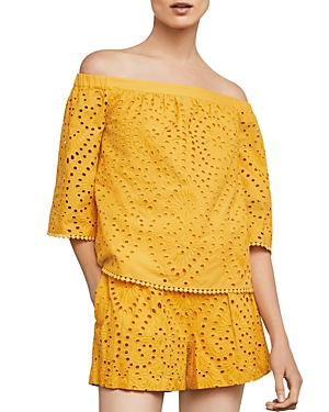 Bcbgmaxazria Off-The-Shoulder Eyelet Top