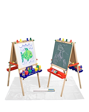 Melissa & Doug Deluxe Wooden Standing Art Easel & Accessories Bundle - Ages 3+