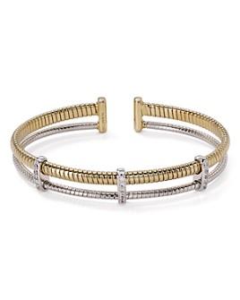 Nadri - Omega Two-Tone Open Cuff Bracelet