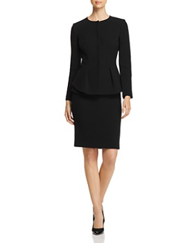 Emporio Armani - Pleated Wool Peplum-Effect Jacket