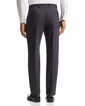 Armani - Tonal Micro-Check-Pattern Tailored Fit Pants