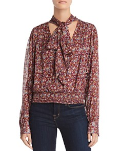 Ramy Brook - Tie Neck Paisley Silk Top