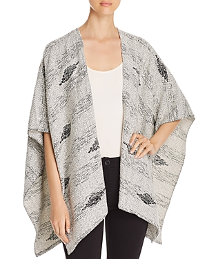 Eileen Fisher Embroidered Diamond Serape