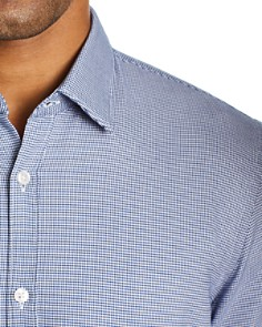 BOSS - Ronn Short-Sleeve Micro-Grid-Print Slim Fit Shirt