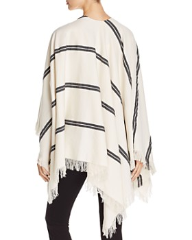 Eileen Fisher - Striped Organic Cotton Poncho