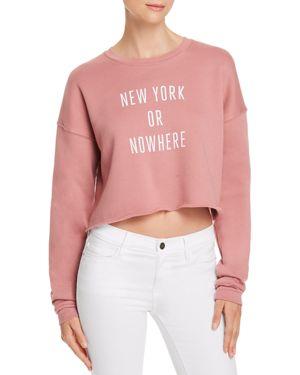 KNOWLITA NEW YORK OR NOWHERE CROPPED SWEATSHIRT - 100% EXCLUSIVE