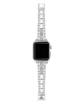 LAGOS - Sterling Silver Smart Caviar Diamond Four-Bar Apple™ Smartwatch Strap