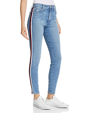 Joe's Jeans Charlie Race Stripe Ankle Skinny Jeans in Ariella
