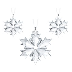 Swarovski 3-Piece Snowflake Crystal Ornament Set, Annual Edition 2018 - Bloomingdale's_0