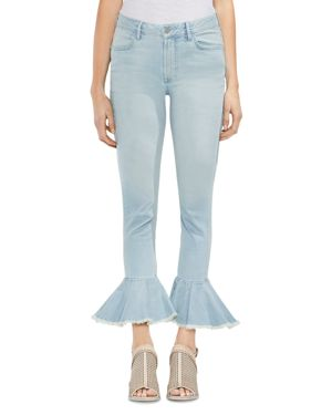 Vince Camuto Frayed Flare-Hem Jeans in Surf Wash 2983056