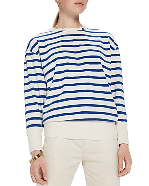 Scotch & Soda Striped Lace-Up Back Sweater