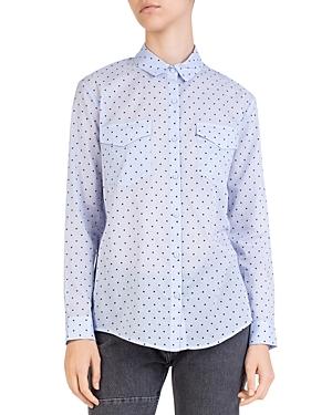 The Kooples Polka Dot Button-Down Cotton Shirt