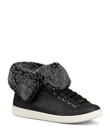UGG® - Women's Starlyn Round Toe Lace Up Leather High-Top Sneakers