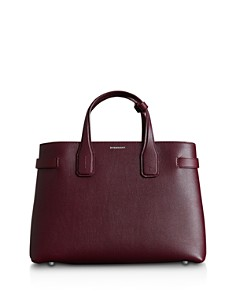 Burberry - Banner Medium Leather Satchel