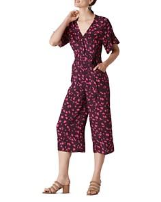 Whistles - Celia Print Tie-Front Jumpsuit