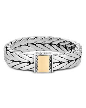 JOHN HARDY - Sterling Silver & 18K Bonded Yellow Gold Modern Chain Large Bracelet