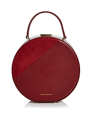 Tammy & Benjamin Medium Leather & Suede Hat Box Bag