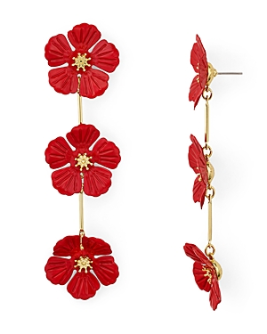 Aqua Floral Trio Drop Earrings - 100% Exclusive