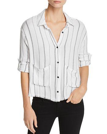 Bella Dahl - Frayed Striped Shirt