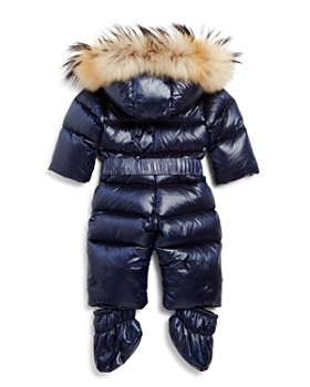 SAM. - Unisex Snowbunny Snowsuit with Fur-Trimmed Hood - Baby