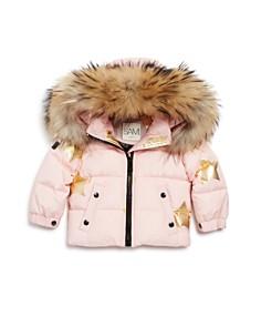 SAM. - Girls' Star-Print Fur-Trimmed Down Jacket - Baby