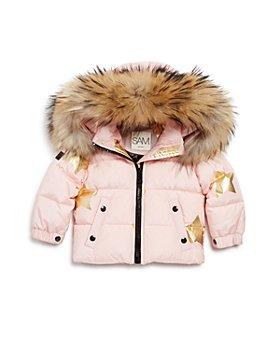 SAM. - Unisex Star-Print Fur-Trimmed Down Jacket - Baby