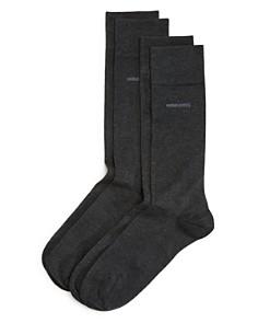 BOSS Hugo Boss - Solid Dress Socks - Pack of 2