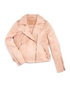 BLANKNYC - Girls' Faux-Suede Zip Moto Jacket - Big Kid