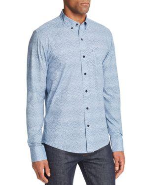 WRK Reworked Fuzzy Dot Slim Fit Button-Down Shirt in Blue Fuzzy Dot
