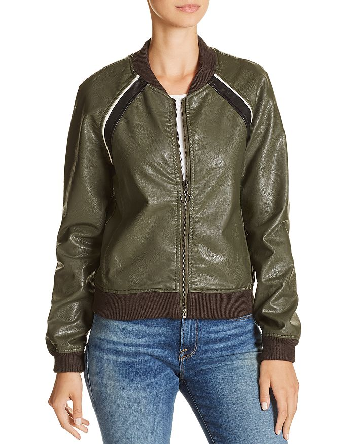Joe's Jeans - Paola Faux-Leather Bomber Jacket