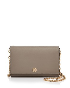 Tory Burch Robinson Medium Leather Chain Wallet Crossbody - Bloomingdale's_0