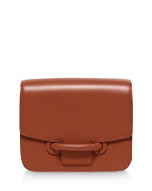 VASIC City Medium Leather Shoulder Bag in Chestnut Brown