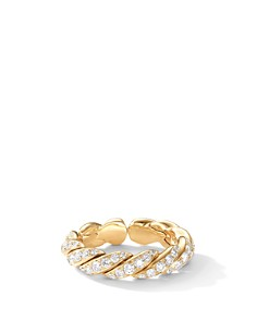 David Yurman Paveflex Band Ring in 18K Gold with Diamonds - Bloomingdale's_0
