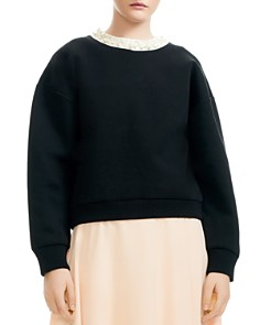 Maje - Tenor Embellished Oversize Sweatshirt