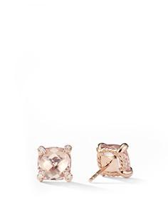 David Yurman - Chatelaine Stud Earrings with Morganite & Diamonds in 18K Rose Gold