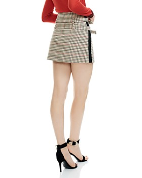 Maje - Ioldi Check-Print Mini Skirt