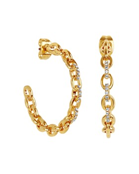 ADORE - Pave Cable Link Hoop Earrings