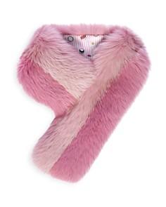 Charlotte Simone - Cuddle Cuff Color-Block Fox-Fur Scarf