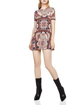 Bcbgeneration Paisley Print A Line Mini Dress
