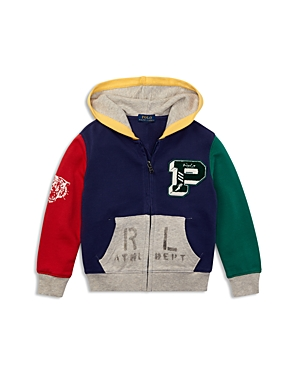 Polo Ralph Lauren Boys' Color-Block Cotton Zip Hoodie - Little Kid