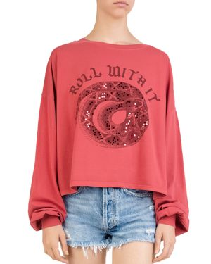 OVERSIZE GRAPHIC TOP