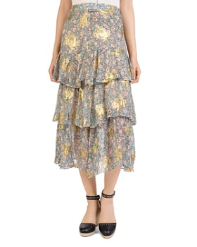 The Kooples - Western Flowers Midi Skirt