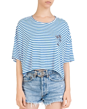 The Kooples Embroidered Striped Tee