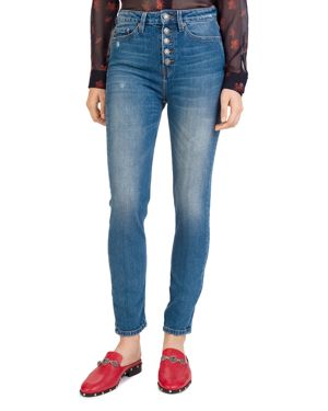THE KOOPLES LIZY CROP STRAIGHT JEANS IN BLUE