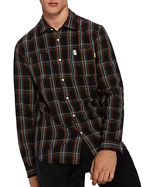 Scotch & Soda Double Pocket Plaid Shirt