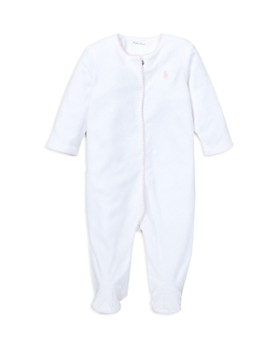 Ralph Lauren - Girls' Polka-Dot Velour Footie - Baby