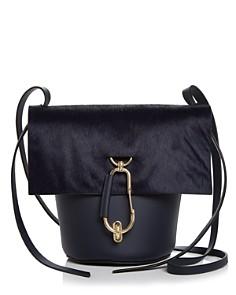 ZAC Zac Posen - Belay Medium Leather & Calf Hair Crossbody Bucket Bag