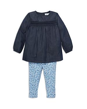 Ralph Lauren Girls' Smocked Top & Floral Leggings Set - Baby