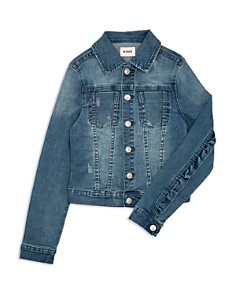 Hudson - Girls' Daisy Ruffle Trim Denim Jacket, Big Kid - 100% Exclusive
